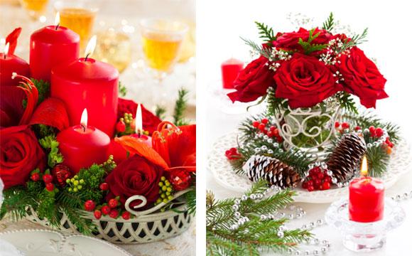 Arranjos de Natal para mesa